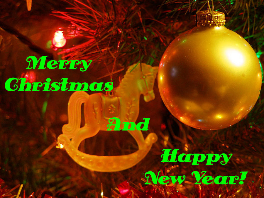 Christmas Cards Photograph - Merry Christmas And Happy New Year  by DeeLon Merritt