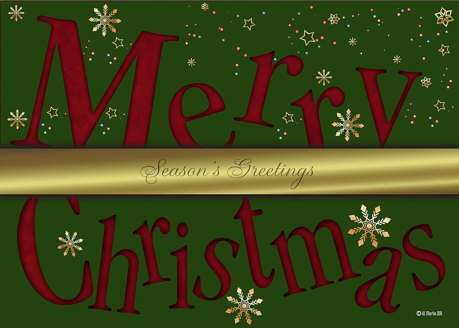 merry christmas card digital artwilliam martin