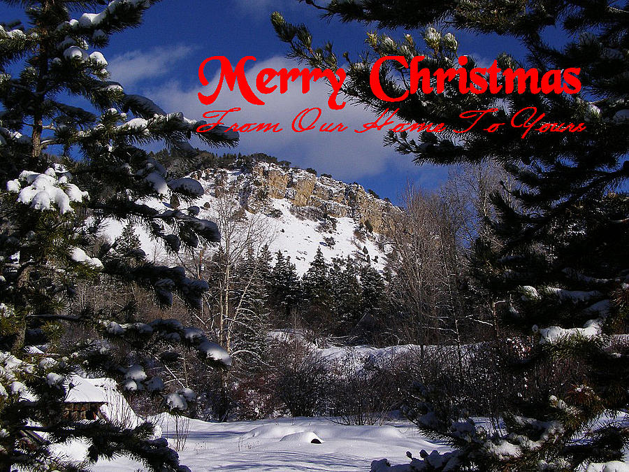 Christmas Cards Photograph - Merry Christmas From Our Home To Yours by DeeLon Merritt