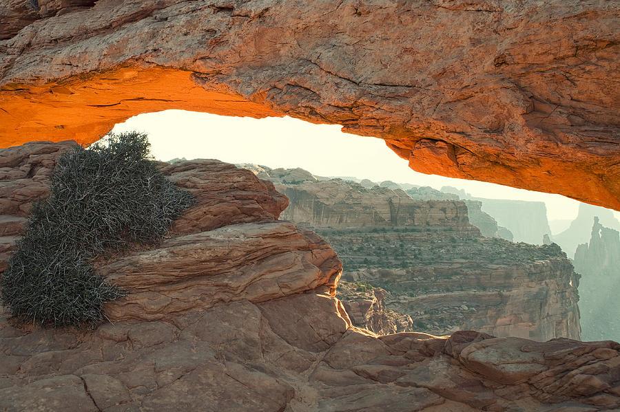 Mesa Arch Photograph - Mesa Arch by Andrew Soundarajan