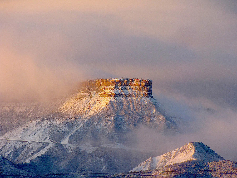 Point Lookout Photograph - Mesa Verde Adorned With Clouds by FeVa  Fotos