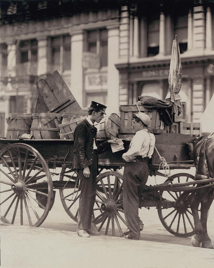 1910s Photograph - Messenger Boys On A Hurry Call In Union by Everett