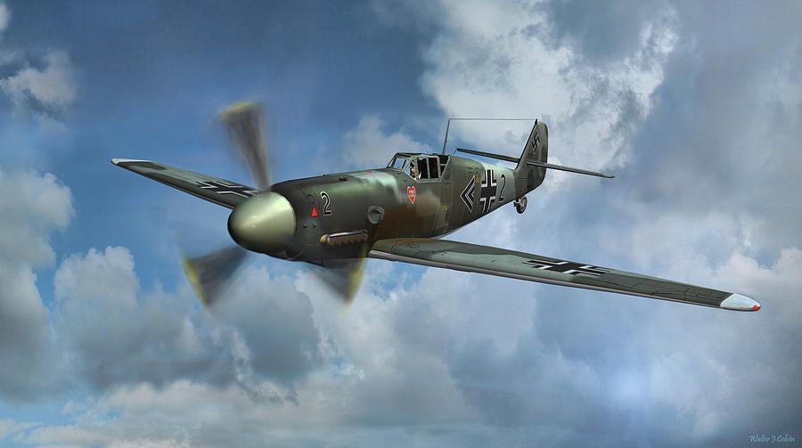 Messerschmitt Bf 109 Digital Art By Walter Colvin