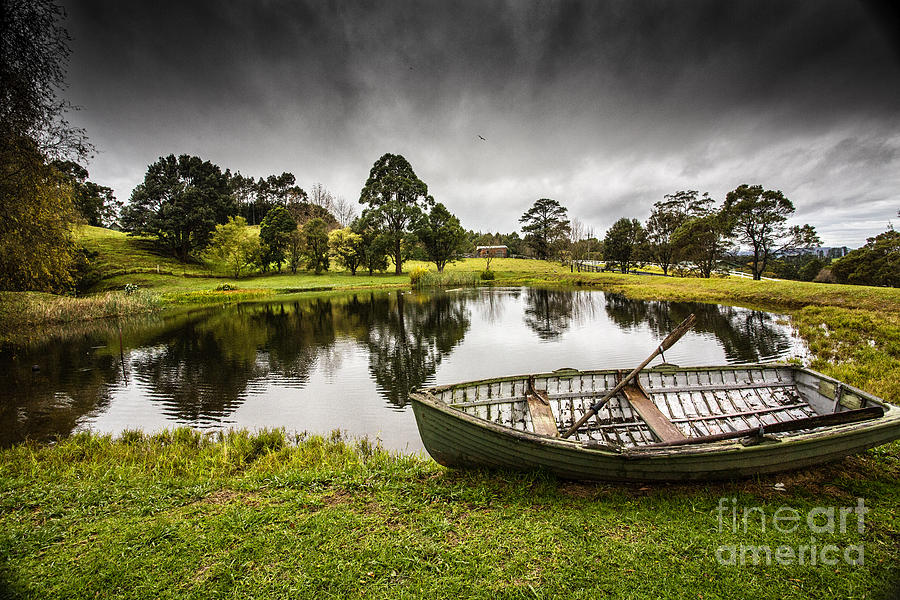 Dinghy Photograph - Messing About In A Boat by Avalon Fine Art Photography