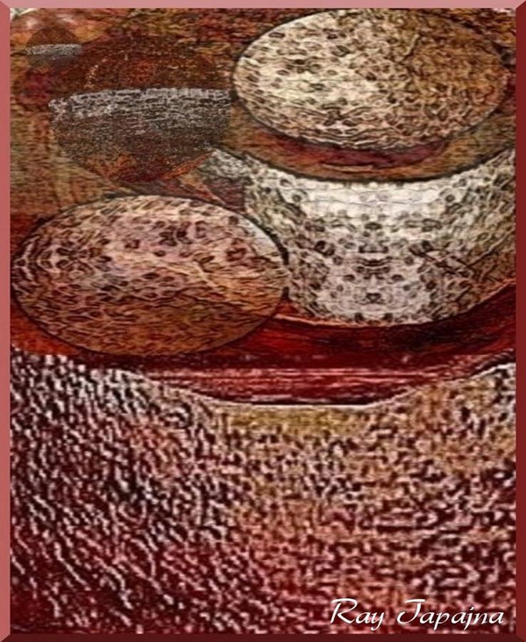 Abstract Mixed Media - Metal Art Rocks by Ray Tapajna