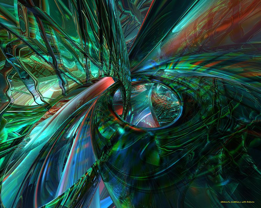 Print Digital Art - Metal N Shattered Glass Fx  by G Adam Orosco