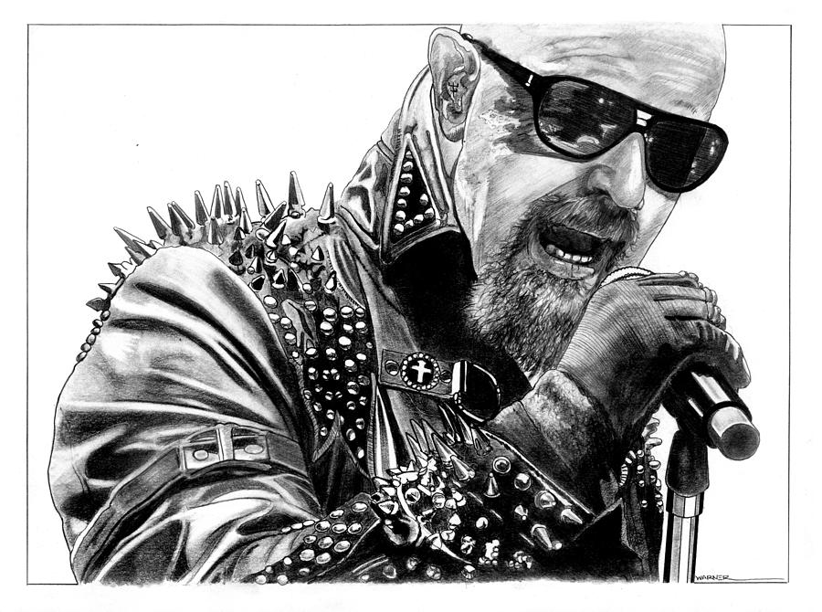 Metalgod Drawing By Anthony Warner