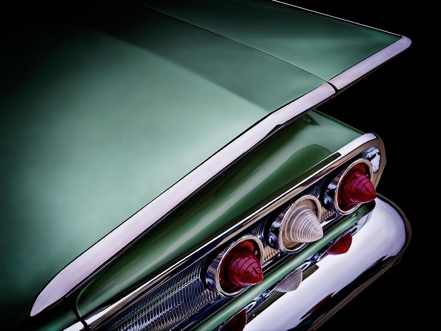 Classic Digital Art - Metalic Green Impala Wing Vingage 1960 by Douglas Pittman
