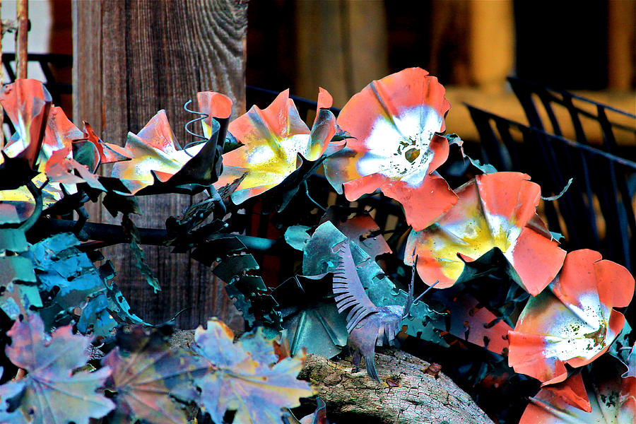 Sculpture Photograph - Metallic Poppies by Karon Melillo DeVega