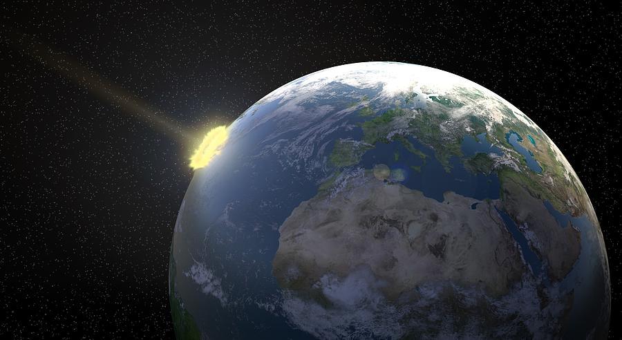 Meteor Impact, Artwork Digital Art by Andrzej Wojcicki