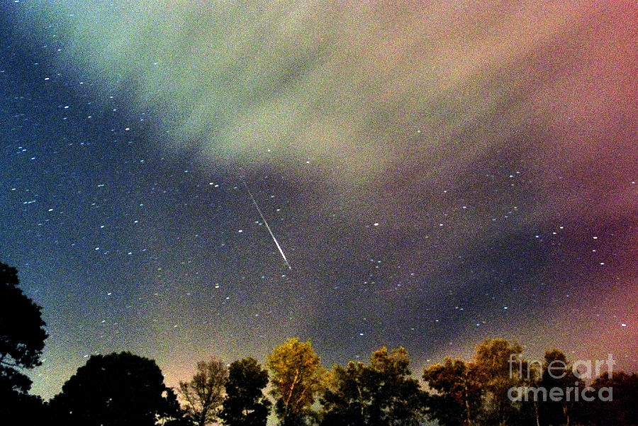Meteor Photograph - Meteor Perseid Meteor Shower by Thomas R Fletcher