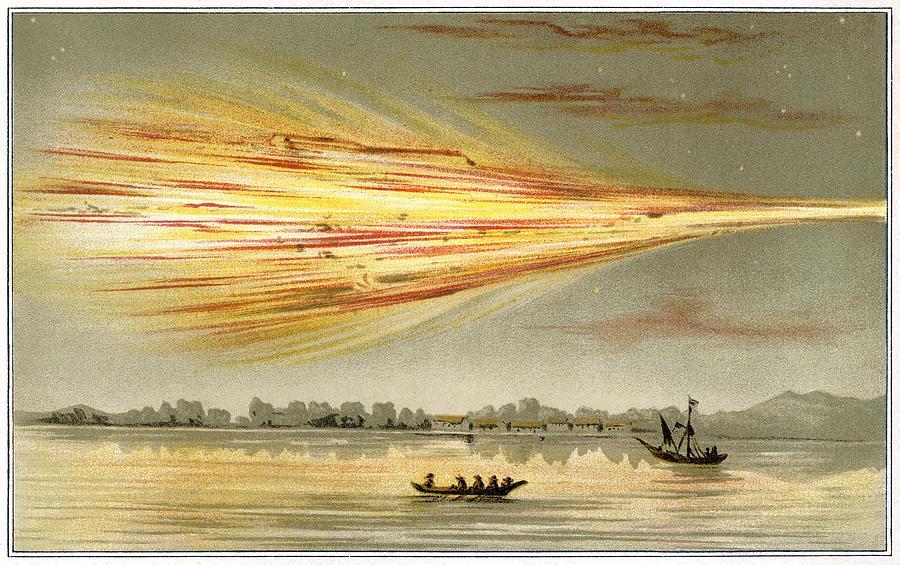 Human Photograph - Meteorite Explosion, Historical Artwork by Detlev Van Ravenswaay