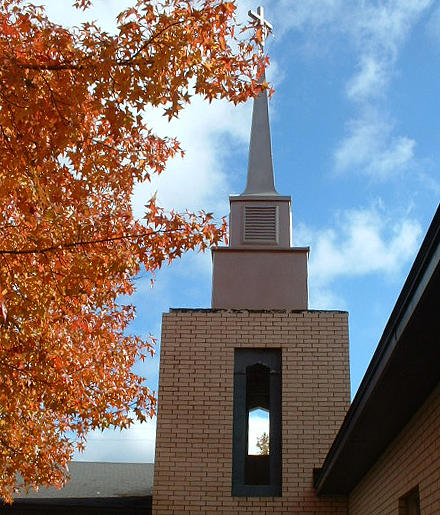 Bell Tower Photograph - Methodist Church by Linda Pope