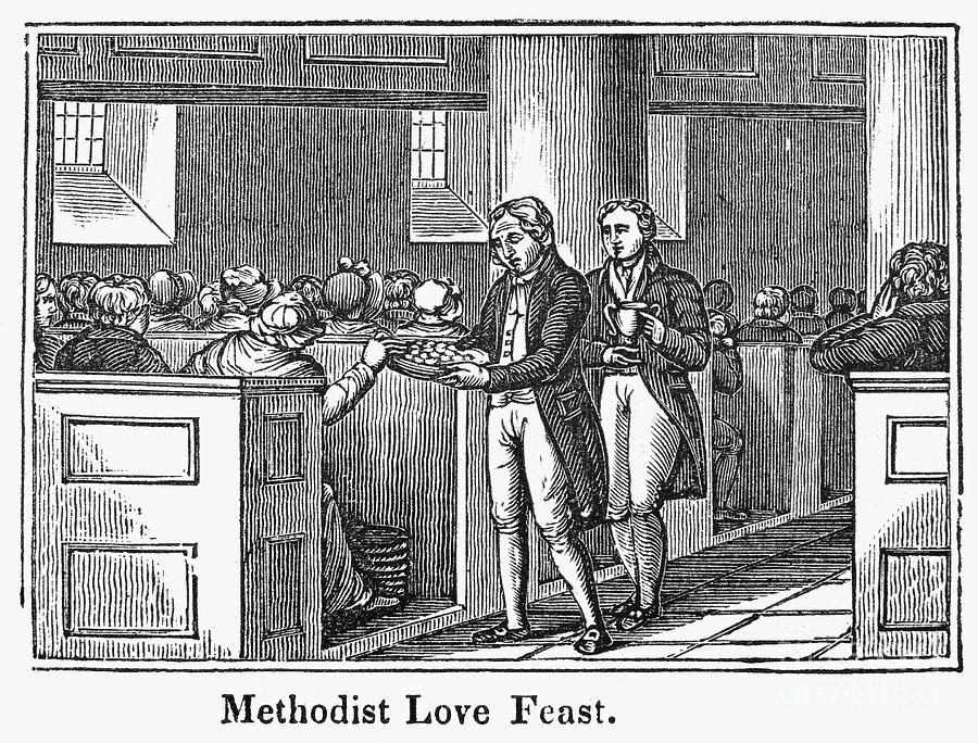 1842 Photograph - Methodist Love Feast, 1842 by Granger