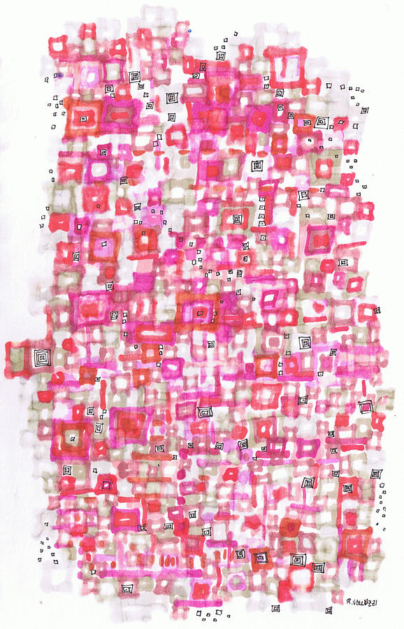 Metropolitan Drawing - Metropolitan Projection by Regina Valluzzi