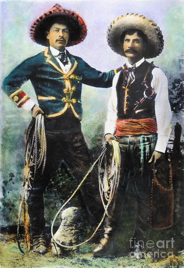 1900 Photograph - Mexican Cowboys by Granger