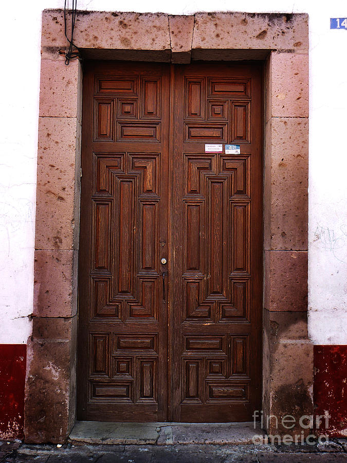 Mexican door wooden rustic entry in santa fe nm