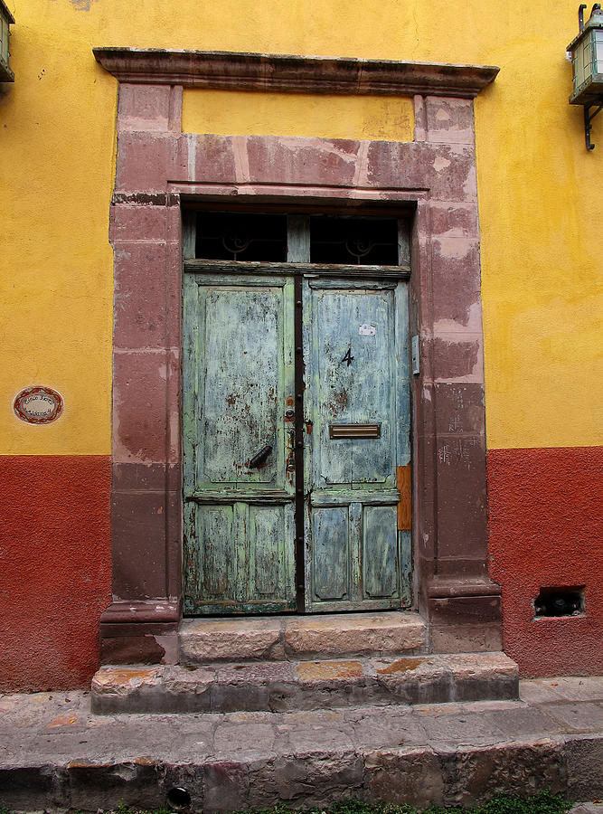 Green Doors Photograph - Mexican Door by Pam Leverich & Mexican Door Photograph by Pam Leverich