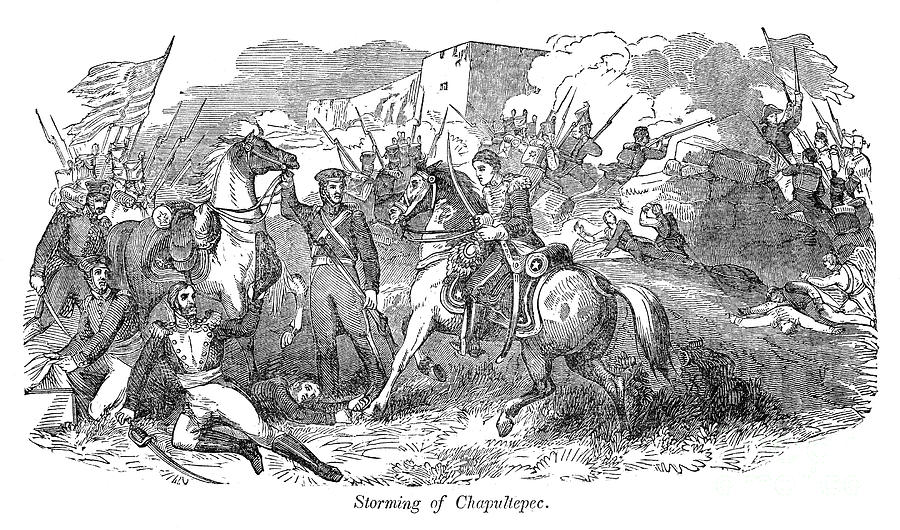 1847 Photograph - Mexican War: Chapultepec by Granger