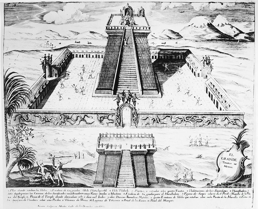 1765 Photograph - Mexico: Aztec Temple, 1765 by Granger