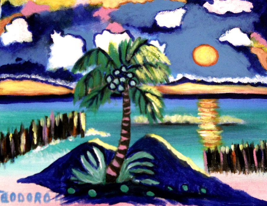 Mexico Sunset Painting by Ted Hebbler