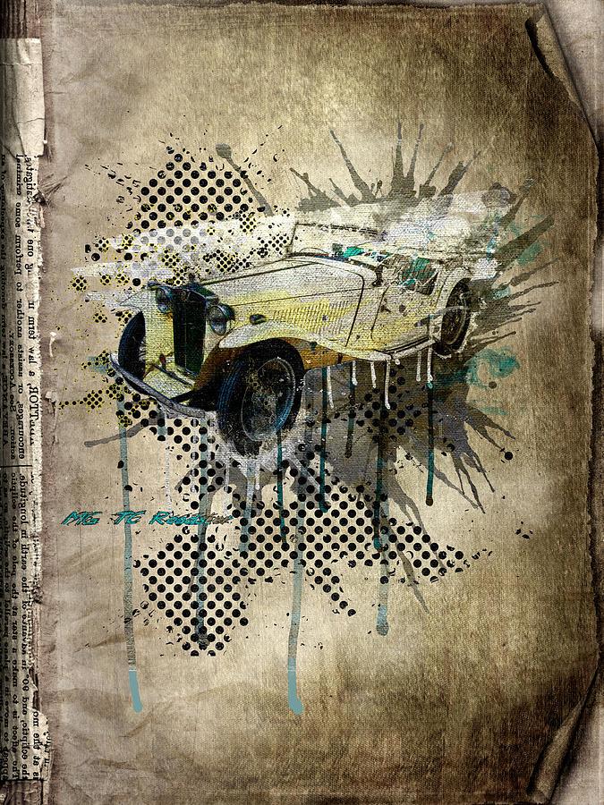 Active Digital Art - Mg Tc Roadster by Svetlana Sewell