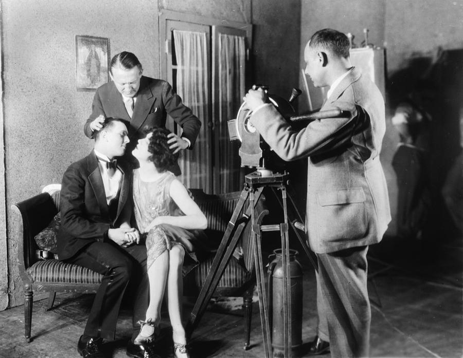 1920s Photograph - Mgm Director Edmund Goulding Back Left by Everett