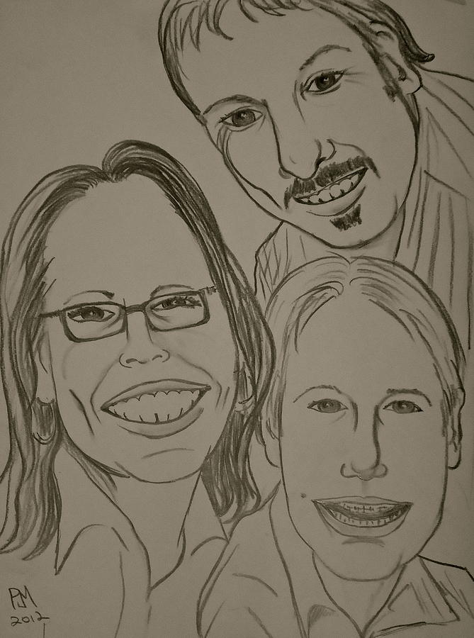 Family Drawing - Mi Familia by Pete Maier