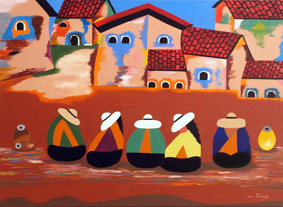 Native Painting - Mi Mejor Regalo by Damaris Munoz Arias