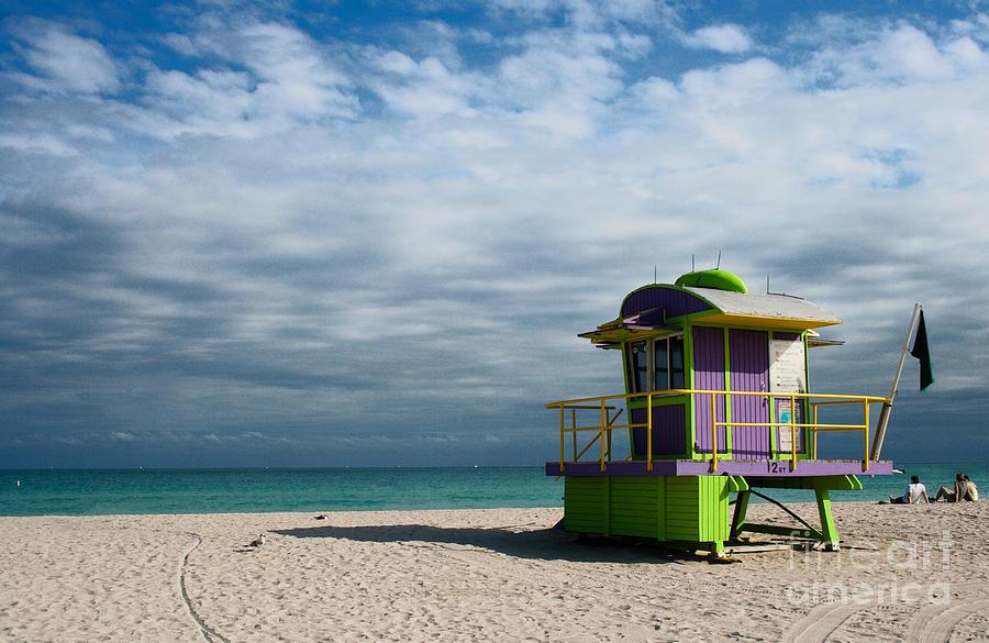 Florida Photograph - Miami 12th Street Beach  by Barbara McMahon