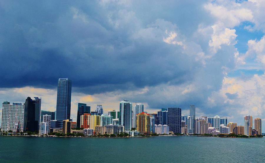 Miami Downtown Photograph - Miami Dowtown by Josee Dube