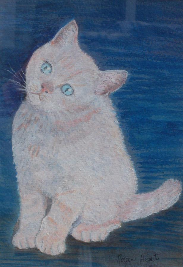 Cat Painting - Miaow by Noreen Hegarty