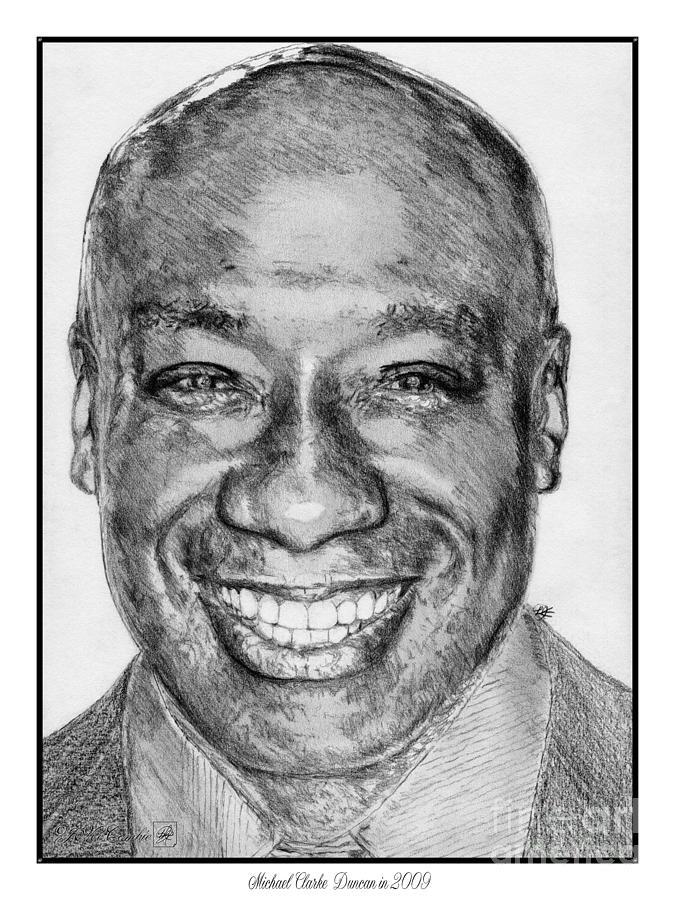 Michael Clarke Duncan Drawing - Michael Clarke Duncan In 2009 by J McCombie