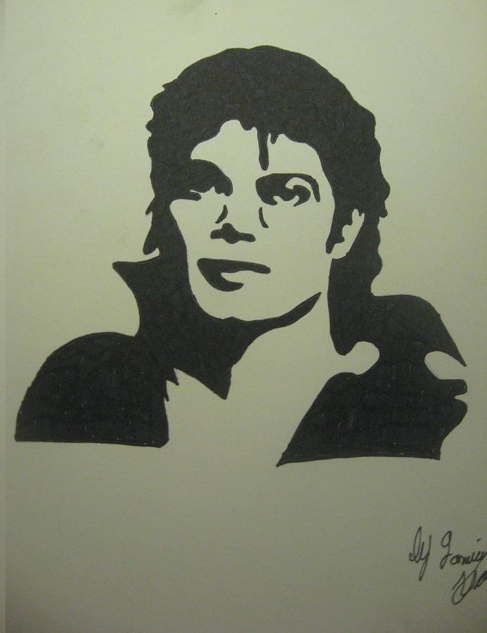 Michael Jackson Drawing - Michael Jackson by Damian Howell