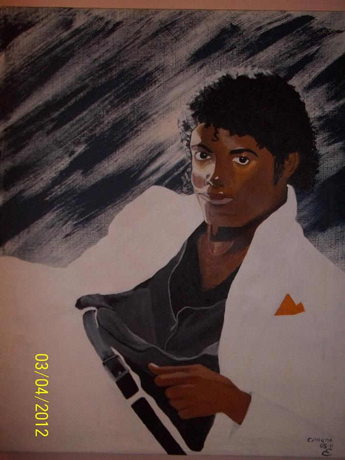 Portrait Painting - Michael Jackson by Elaine Holloway