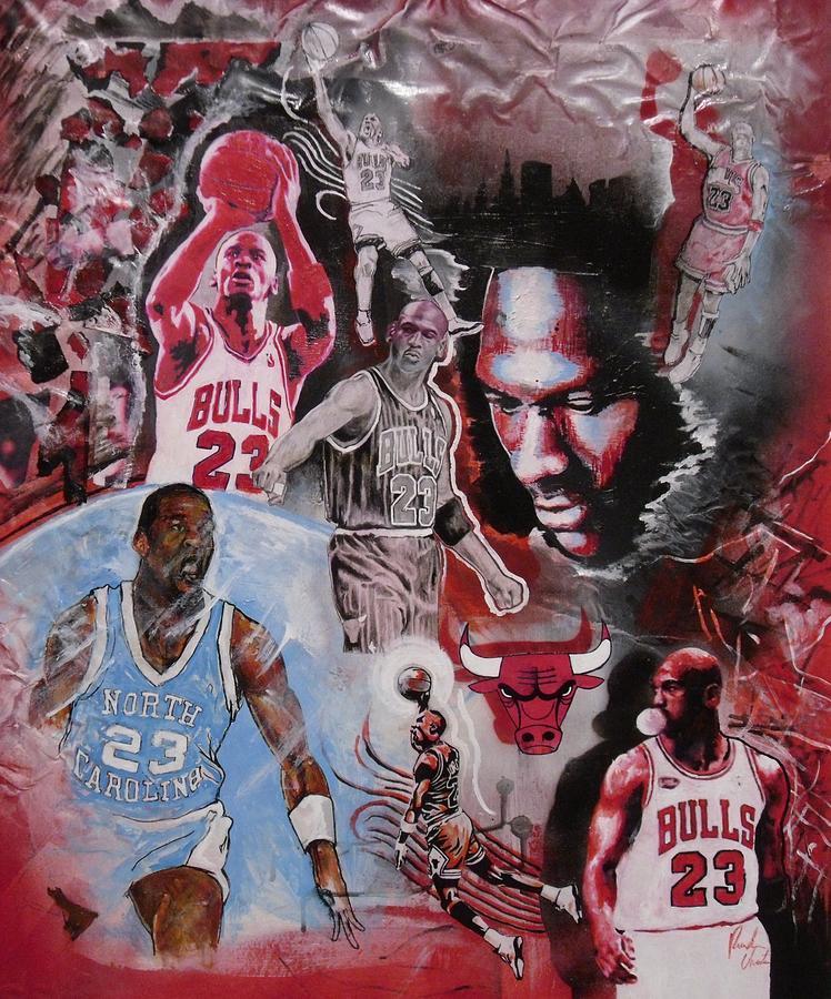 Michael Jordan Painting - Michael Jordan by Reuben Cheatem