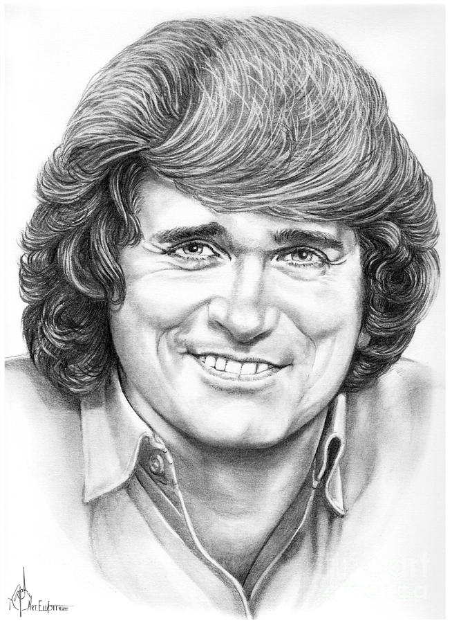 Michael Landon Drawing By Murphy Elliott