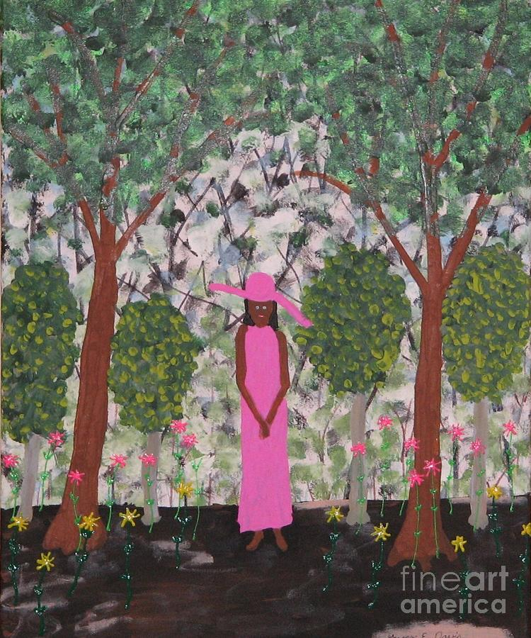 Presidents Wife Painting - Michelle Obama First Lady by Gregory Davis