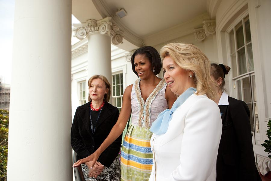 History Photograph - Michelle Obama Hosts First Lady by Everett