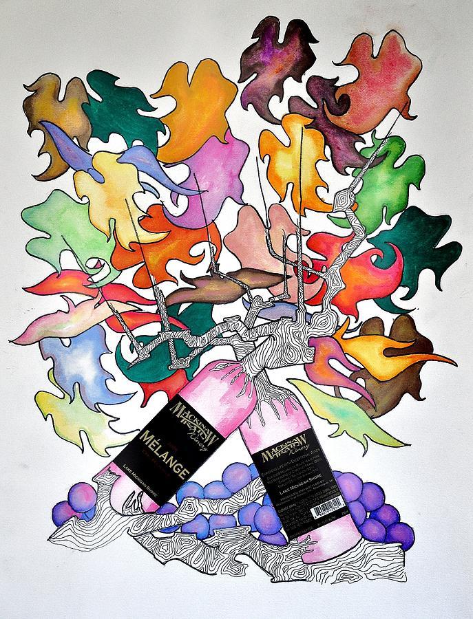 Wine Painting - Michigan Wine by Glenn Calloway