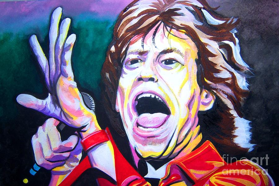 Mick Jagger Painting - Mick Jagger by Ken Huber