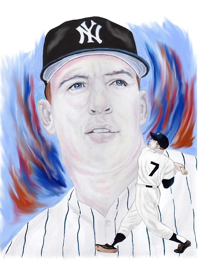 Mickey Mantle Painting - Mickey Mantle by Steve Ramer