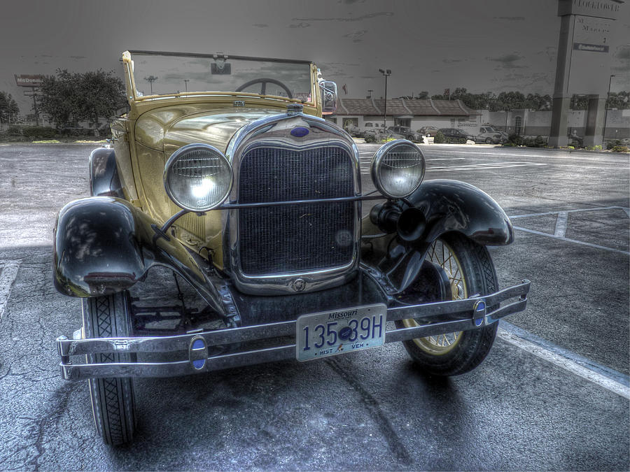 Model A Ford Photograph - Mickeys Car by William Fields