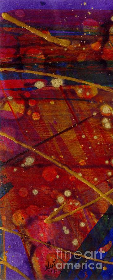 Acrylic Painting - Mickeys Triptych - Cosmos II by Angela L Walker