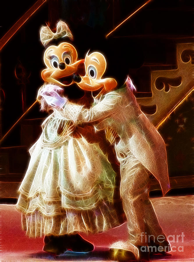 Mickey Mouse Photograph - Micky And Minnie Mouse Skate by Darleen Stry