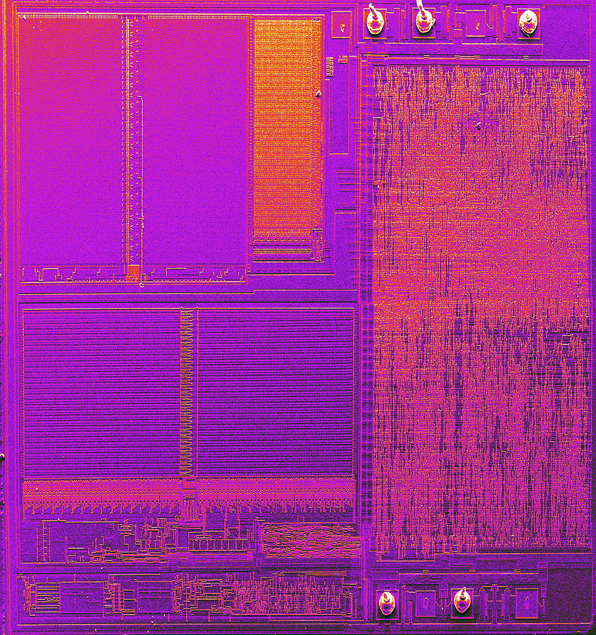 Integrated Circuit Photograph - Microchip, Sem by Power And Syred