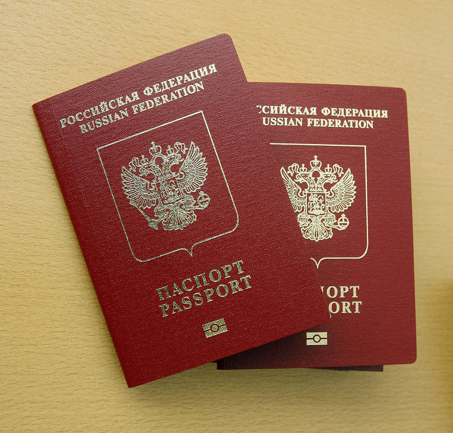 Microchip Photograph - Microchipped Passports, Russia by Ria Novosti