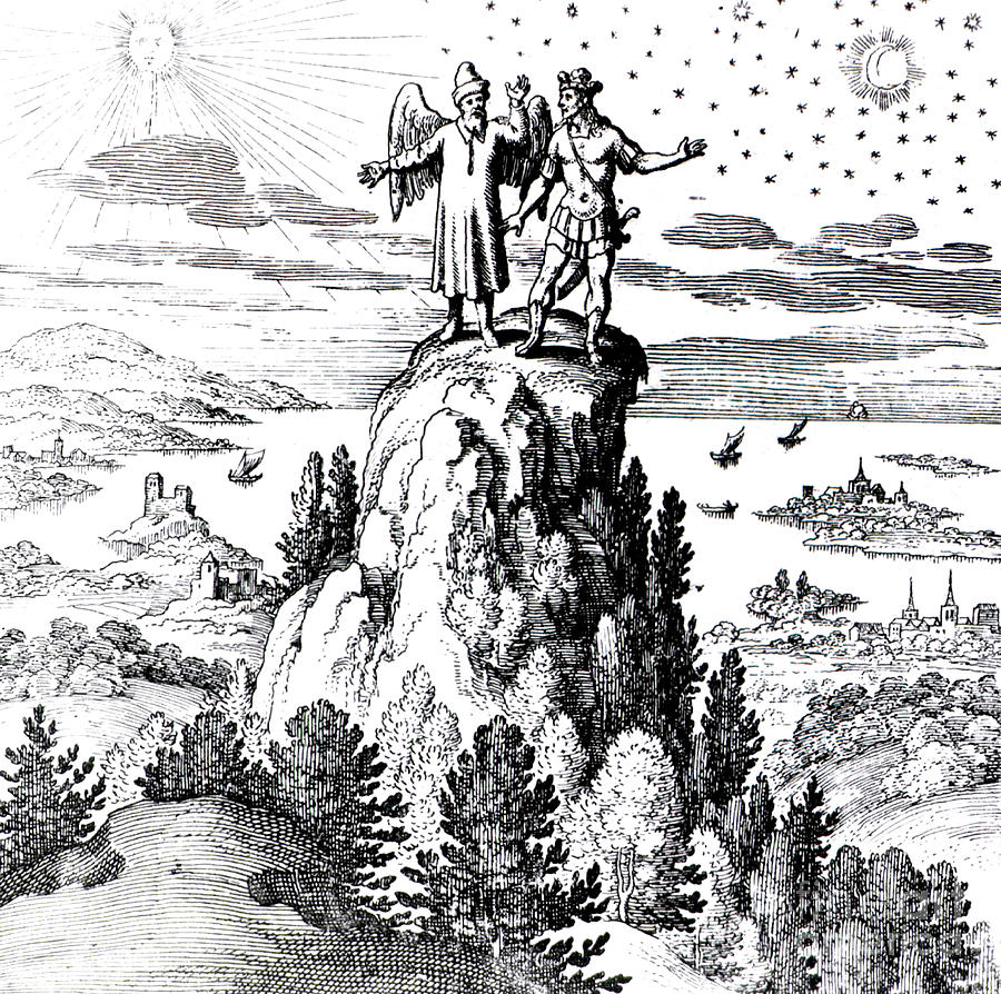 History Photograph - Microcosm, Macrocosm, 17th Century by Science Source