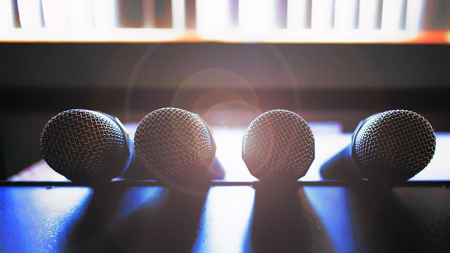 Microphone Photograph - Microphone Flare by Bill Tiepelman