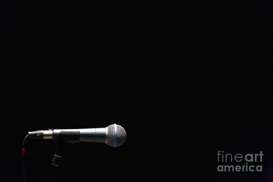 Ball Head Photograph - Microphone by Roberto Westbrook